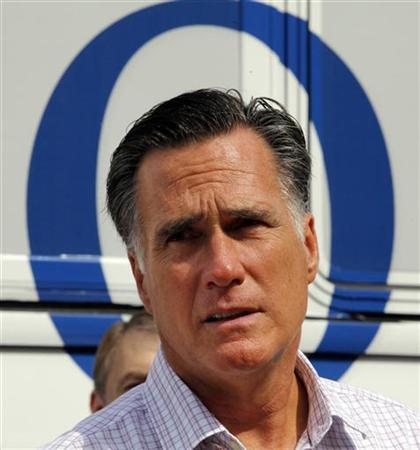 Republican presidential candidate and former Massachusetts Governor Mitt Romney talks to reporters after a brief meeting with a group of veterans in Concord, New Hampshire September 6, 2012. REUTERS/Brian Snyder