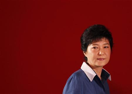 Park Geun-hye attends a national convention of the ruling Saenuri Party in Goyang, north of Seoul August 20, 2012. REUTERS/Lee Jae-Won