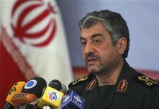 Ali Jafar disse que a segurança das ilhas iranianas é parte da estratégia da for;ca naval do país. 07/02/2011. REUTERS/STRINGER