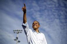 Candidato à reeleição, Barack Obama tem 51 anos, é advogado e ganhou o Prêmio Nobel da Paz em 2009. 04/11/2012. REUTERS/Jason Reed