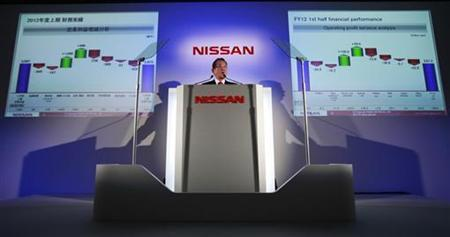 Nissan Motor Co.'s Chief Operating Officer Toshiyuki Shiga speaks during a news conference at company's headquarters in Yokohama, south of Tokyo November 6, 2012. Nissan Motor Co. cut its full-year net profit forecast by a fifth to $3.99 billion, joining rival Honda Motor, after car sales tumbled in China, the world's biggest autos market, amid anti-Japanese protests over a territorial dispute. REUTERS/Yuriko Nakao (JAPAN - Tags: TRANSPORT BUSINESS)