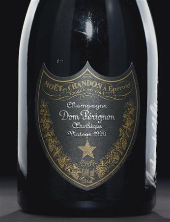 LOT 525, Dom Pérignon Oenothèque -- Vintage 1990,signed by Richard Geoffroy (creator and chef de cave) in Chicago 2007, is pictured in this handout photo from Christie's auction house. REUTERS/CHRISTIE'S IMAGES LTD. 2012/Handout