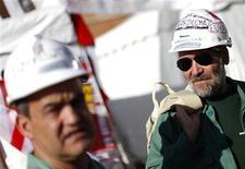 Minatori sardi in manifestazione a Roma, 20 ottobre 2012. REUTERS/Max Rossi