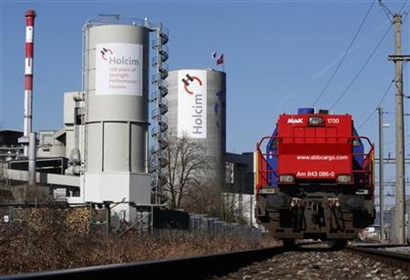 A general view shows Switzerland's Holcim cement production plant in Siggenthal, February 29, 1012.REUTERS/Christian Hartmann