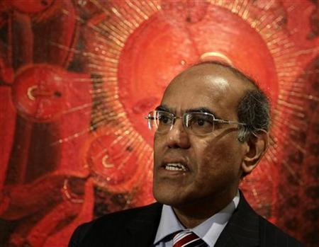 Duvvuri Subbarao, governor of the Reserve Bank of India speaks during an interview with Reuters at a hotel in Mexico City November 5, 2012. REUTERS/Henry Romero