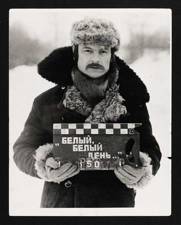 Russian film director Andrei Tarkovsky is seen on the set of the movie later called ''Mirror'' in 1973, in this undated handout photograph released by Sotheby on November 7, 2012. REUTERS/Sotheby/Handout