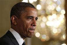 """U.S. President Barack Obama delivers a statement on the U.S. """"Fiscal Cliff"""" in the East Room of the White House in Washington, November 9, 2012. REUTERS/Jason Reed"""