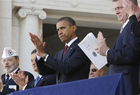 Obama hails veterans, pledges continued support