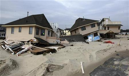 Buildings damaged by Hurricane Sandy are pictured in Ortley Beach, New Jersey, in this November 10, 2012 photograph released on November 11, 2012. REUTERS/Tim Larsen/Governor's Office/Handout