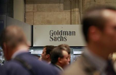 Traders work on the floor of the New York Stock Exchange near the Goldman Sachs stall July 16, 2010. REUTERS/Brendan McDermid/Files
