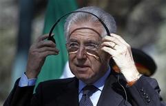 Il presidente del Consiglio Mario Monti. REUTERS/Omar Sobhani