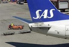 Companhia aérea SAS enfrenta concorrentes de baixo custo e não obtém lucro anual desde 2007. 03/05/2012 REUTERS/Johan Nilsson/Scanpix