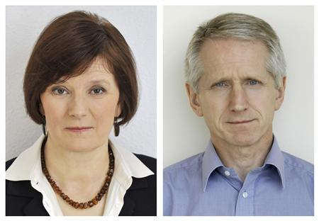 BBC News director Helen Boaden and deputy director Steve Mitchell (R) are seen in undated photos released in London November 12, 2012. REUTERS/BBC/handout