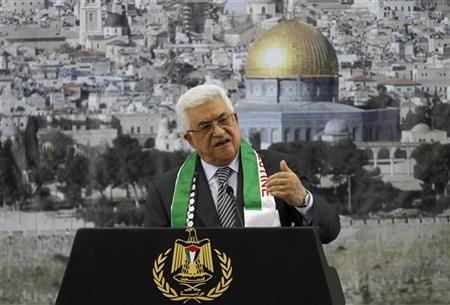 Abbas says ready to start talks with Israel after U.N. upgrade