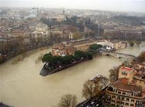 """Maltempo, a Roma attesa piena """"prolungata"""" del Tevere, ma senza pericoli. REUTERS PICTURE"""