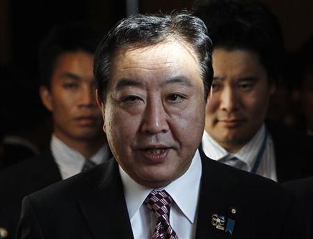 11月14日、野田佳彦首相は、安倍晋三自民党総裁に対して今国会での定数削減実現を呼び掛け、その道筋ができれば今週末の16日に解散してもいいと明言した。6日撮影(2012年 ロイター/Sukree Sukplang)