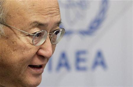 International Atomic Energy Agency (IAEA) Director General Yukiya Amano attends a news conference during a board of governors meeting at the United Nations headquarters in Vienna September 10, 2012. REUTERS/Herwig Prammer