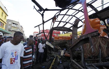 Bomb rips through Nairobi minibus, killing six