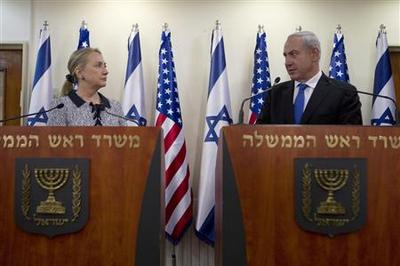 """Clinton vows work on Gaza truce """"in days ahead"""""""