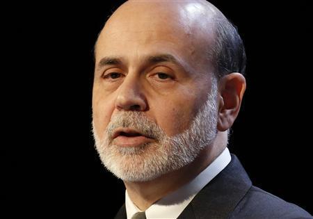 Federal Reserve Chairman Ben Bernanke speaks to the Economic Club of New York in New York, November 20, 2012. REUTERS/Brendan McDermid