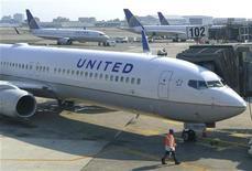 <p>La justice fédérale américaine a blanchi mercredi la compagnie aérienne United Airlines d'accusations de négligence lors des attentats du 11 septembre 2001 aux Etats-Unis. /Photo d'archives/REUTERS/Gary Hershorn</p>