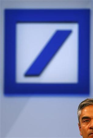 Anshu Jain, Co-Chairmen of the Management board and the Group Executive Committee of Germany's largest business bank, Deutsche Bank AG addresses a news conference in Frankfurt, September 11, 2012. REUTERS/Kai Pfaffenbach (GERMANY - Tags: BUSINESS HEADSHOT)