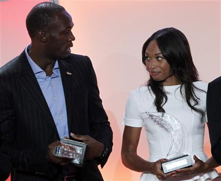 Bolt, Felix win 2012 athlete of the year awards