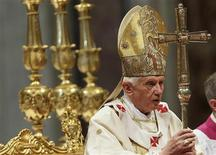 Pope Benedict XVI leads a consistory mass in St Peter's Basilica at the Vatican November 25, 2012. REUTERS/Tony Gentile