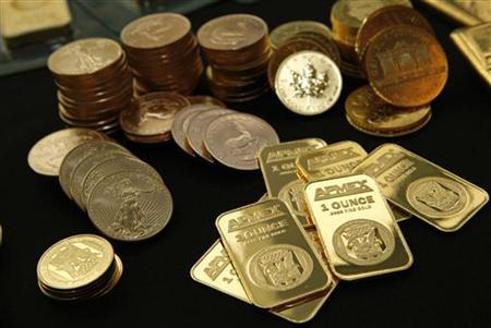 Gold Bullion and coins from the American Precious Metals Exchange (APMEX) is seen in this picture taken in New York, September 15, 2011. REUTERS/Mike Segar/Files