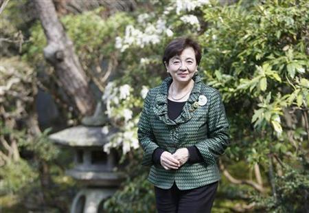 11月29日、滋賀県知事の嘉田由紀子氏率いる「日本未来の党」が結成され、衆院選の構図に大きな変化が生じる兆しが見えてきた。写真は4月、ロイターとのインタビューでの同知事(2012年 ロイター/Toru Hanai)