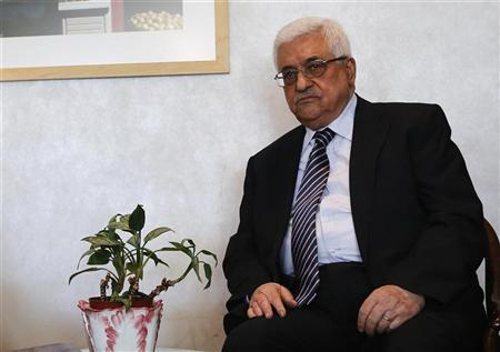 Palestinian President Mahmoud Abbas sits during a meeting with U.S. Deputy Secretary of State William Burns in New York November 28, 2012. REUTERS/Shannon Stapleton