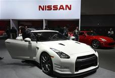The 2013 Nissan GT-R is on display at the 2012 Los Angeles Auto Show in Los Angeles, California November 28, 2012. REUTERS/Phil McCarten