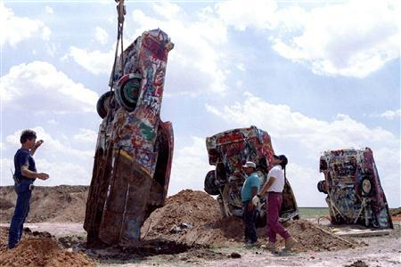 Eccentric owner of Cadillac Ranch in Texas facing...