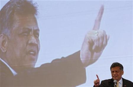 Surin Pitsuwan, secretary-general of the Association of Southeast Asian Nations (ASEAN), speaks during a lecture titled ''Raising the ASEAN Value through the Concept of Moderation'', in Kuala Lumpur October 30, 2012. REUTERS/Bazuki Muhammad