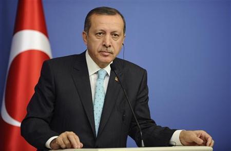 Turkey's Prime Minister Tayyip Erdogan attends a news conference in Ankara November 28, 2012. REUTERS/Stringer