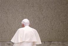 Pope Benedict XVI leaves at the end of the general audience in Paul VI's Hall at the Vatican November 28, 2012. REUTERS/Max Rossi