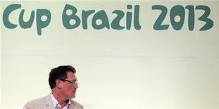O secretário-geral da Fifa, Jérôme Valcke, participa de coletiva de imprensa em São Paulo. Valcke afirmou nesta sexta-feira que o estádio de Manaus é uma preocupação para a Copa do Mundo e a arena precisa ficar pronta até dezembro do ano que vem, antes do sorteio dos grupos, para não correr o risco de ser retirada da competição de 2014. 28/11/2012 REUTERS/Paulo Whitaker