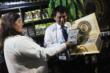 Peruvian coffee growers harvest dung for golden...
