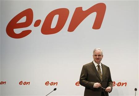 CEO of German utility giant E.ON Johannes Teyssen poses before the annual news conference in Duesseldorf March 14, 2012. REUTERS/Ina Fassbender