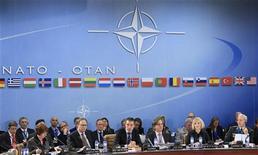L'assemblea dei ministri degli Esteri della Nato oggi riunita a Bruxelles. REUTERS/Yves Herman