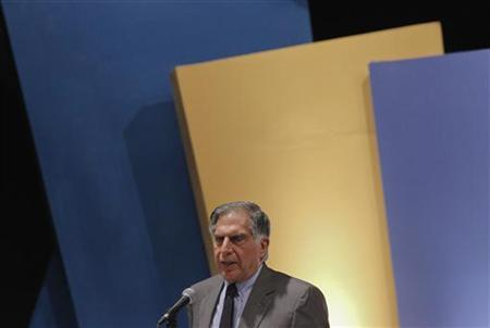Tata Group Chairman Ratan Tata speaks during the annual general meeting of software services provider Tata Consultancy Services (TCS) in Mumbai June 29, 2012. REUTERS/Vivek Prakash/Files