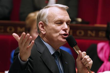 French Prime Minister Jean-Marc Ayrault speaks as he attends the questions to the government session at the National Assembly in Paris, December 5, 2012. REUTERS/Charles Platiau