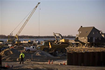 Slumping Northeast construction sector gets boost after Sandy