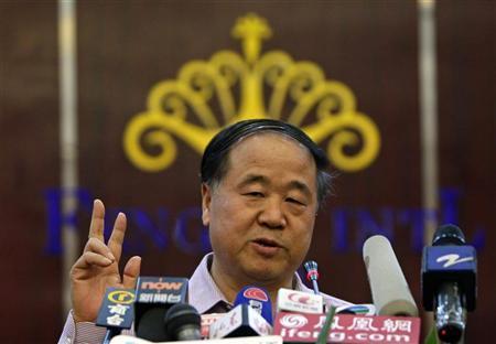 Chinese Nobel winner dodges call for laureate's freedom