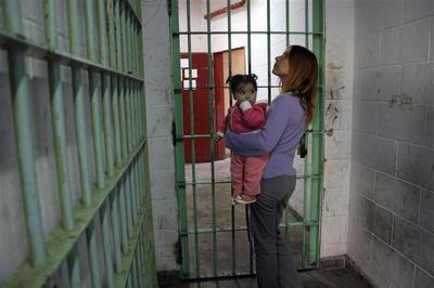 Raised behind bars