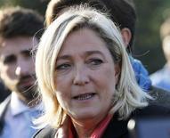 <p>Marine Le Pen a imputé lundi l'élimination, la veille, des candidats du Front national lors du premier tour de trois élections législatives partielles à la prime aux sortants UMP et centriste et à la faible implantation locale de son parti. /Photo prise le 14 novembre 2012 (FRANCE - Tags: POLITICS FOOD HEADSHOT)</p>