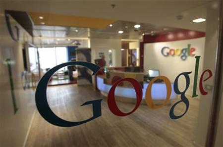 The Google logo is seen on a door at the company's office in Tel Aviv January 26, 2011. REUTERS/Baz Ratner/Files