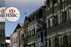 Agência do banco HSBC em St. Helier, Jersey. O HSBC Holdings aceitou desembolsar 1,92 bilhão de dólares --a maior multa já paga por um banco-- para encerrar uma longa investigação criminal nos Estados Unidos sobre erros envolvendo lavagem de dinheiro na instituição britânica. 11/11/2012 REUTERS/Stefan Wermuth
