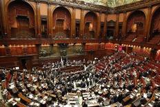 L'aula del Senato. REUTERS/Max Rossi