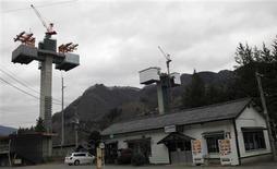 Bridge piers built at a construction site of Yanba Dam stand in Naganohara, Gunma Prefecture in Naganohara, Gunma Prefecture December 3, 2012. REUTERS/Tetsushi Kajimoto